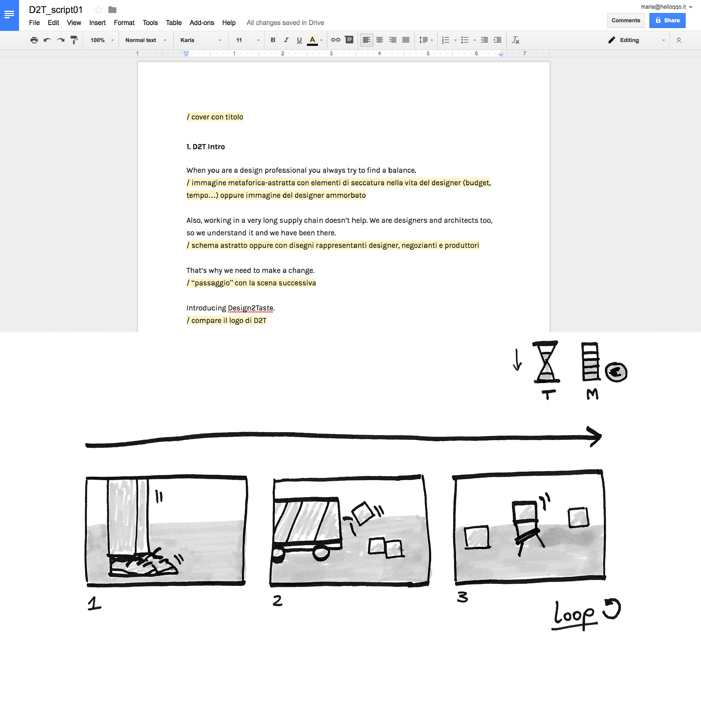 D2T Script and Storyboard